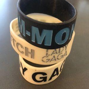 Lady Gaga plastic bracelets